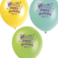 Cupcake party latex balloons