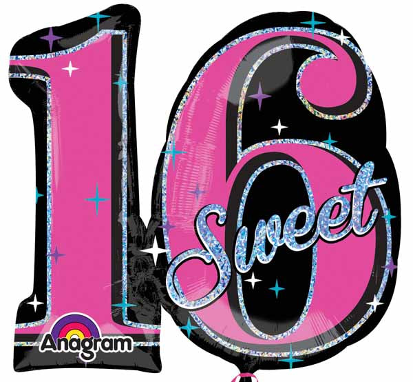 Sweet 16 Shape Foil Balloon