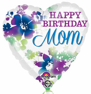 Happy Birthday Mom mylar balloon