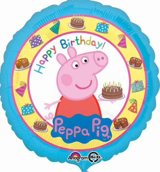 Peppa Pig Birthday Foil Balloon