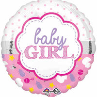 "Baby girl 18"" foil balloon"