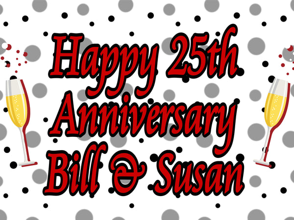 Happy Anniversary 18x24 custom lawn sign