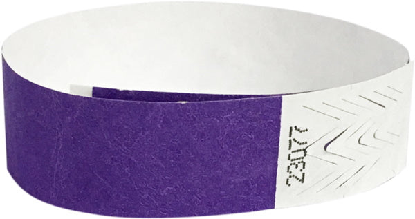 500 purple Tyvek wristbands