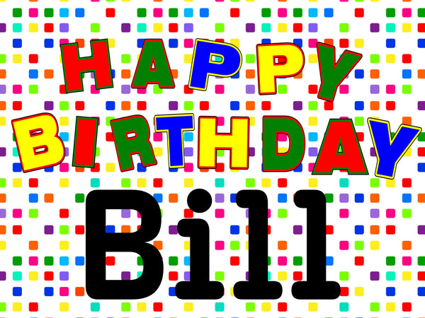 colourful birthday dots 18x24 custom yard sign