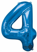 Number 4 Balloon 34""