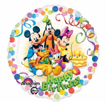 Mickey & Friends Happy Birthday 18 inch foil balloon