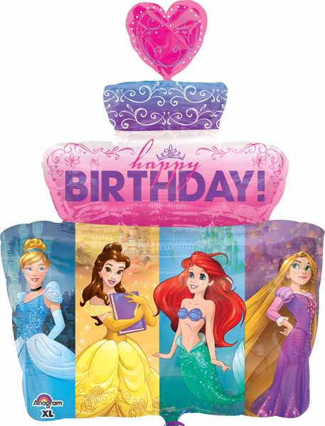 Princess Cake shape Foil balloon