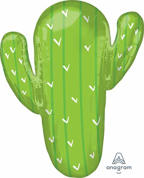 cactus supershape balloon 31 inches comes empty