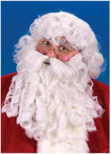 Deluxe Santa wig, beard with moustache and eyebrows