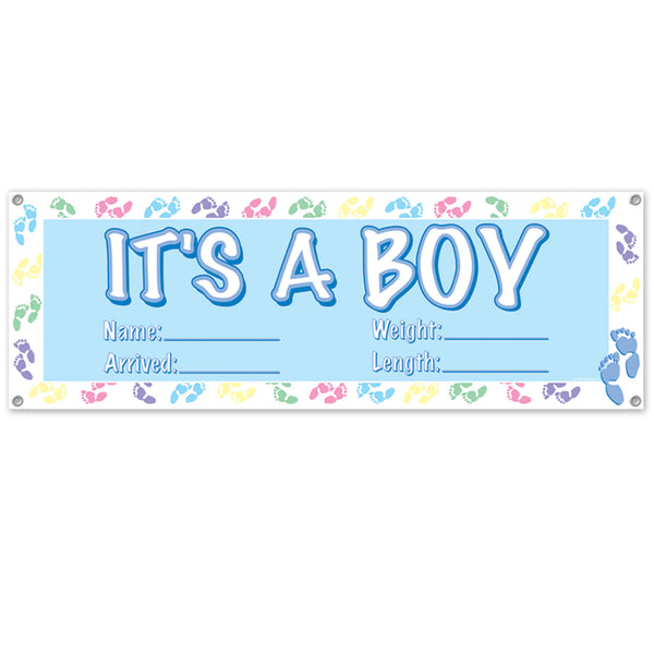 It's a boy Jumbo banner personalizable