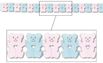 Teddy bear tissue 12' Garland
