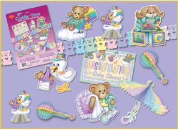 Baby shower 11 piece decorating Kit