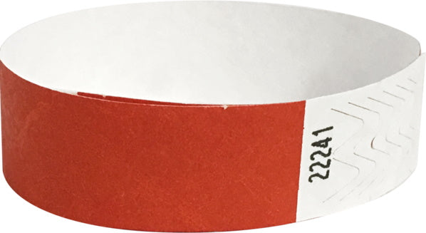 500 Red Tyvek wristbands