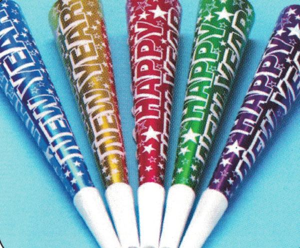 9 inch starry nights foil horn, 1 per package