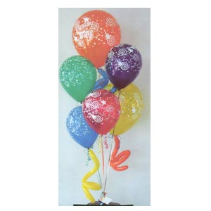 Helium balloon bouquet