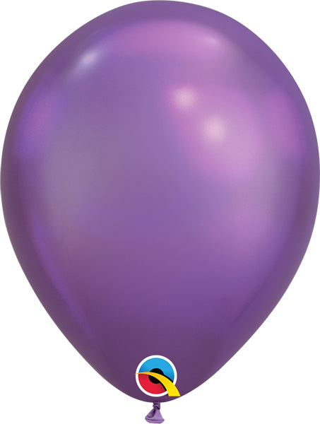 chrome purple 11 inch qualatex balloons, 10 count