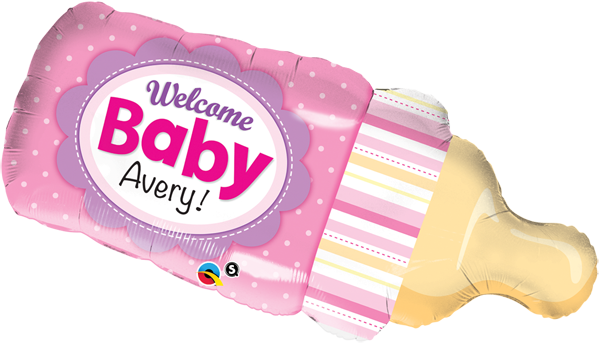 Welcome Baby girl bottle 39