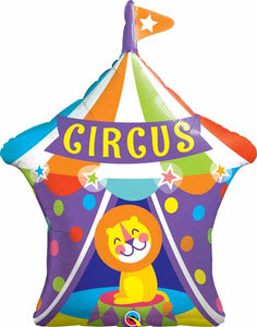 Big Top circus lion foil balloon