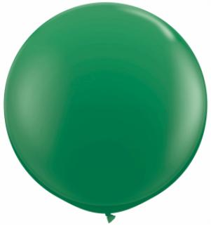 green Qualatex 3 foot Balloon, 1 per package, empty