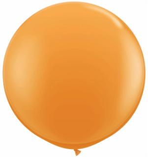 orange Qualatex 3 foot Balloon, 1 per package, empty