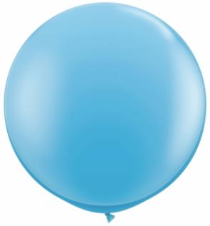 pale blue Qualatex 3 foot Balloon, 1 per package, empty
