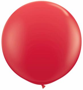 red Qualatex 3 foot Balloon, 1 per package, empty