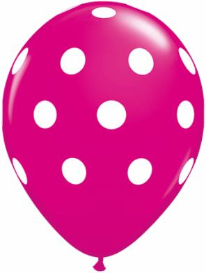 Polka Dot printed latex balloon