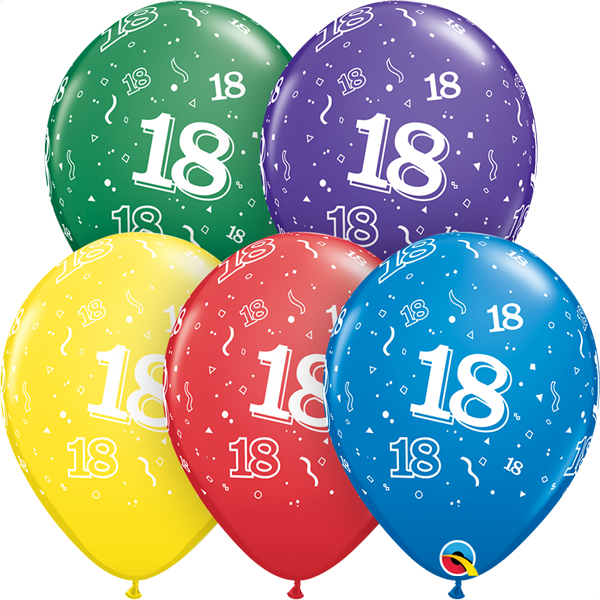 18 printed balloon