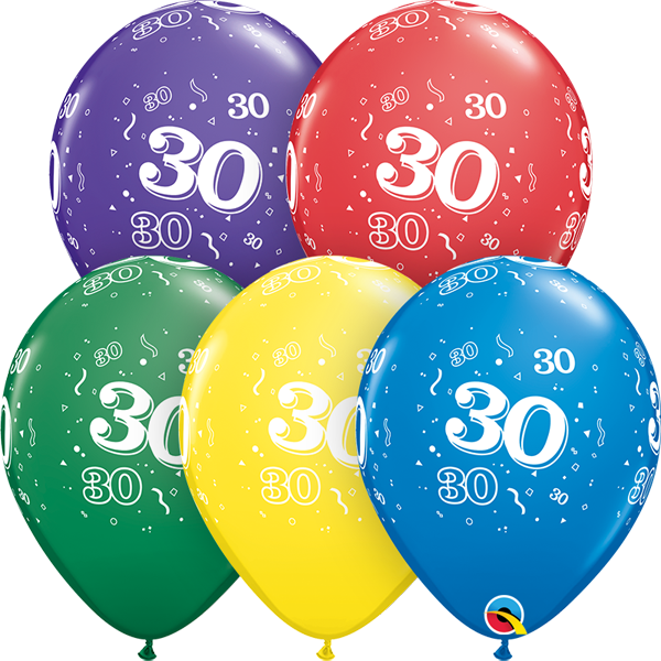 30 printed balloon