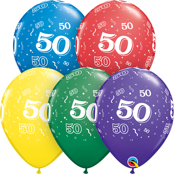50 printed balloon