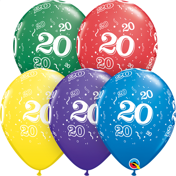 20 printed balloon