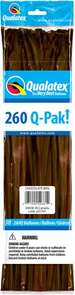 chocolate brown 260q, 50 count