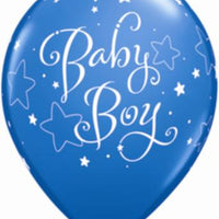 "baby boy and stars  11"" balloon"