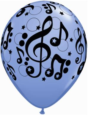 Music note printed balloon