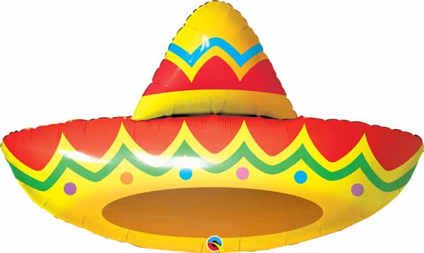 sombrero shaped 41 inch foil balloon