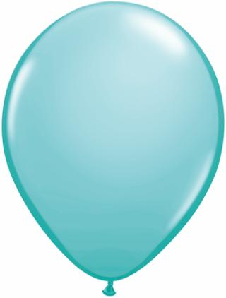 caribbean blue Qualatex 11inch Balloons ,10 per package, empty