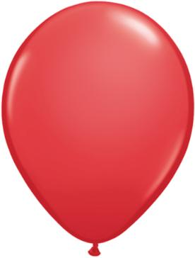 red Qualatex 11inch Balloons ,10 per package, empty