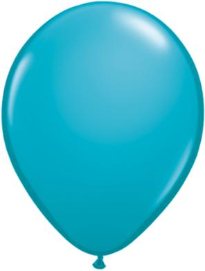 tropical teal Qualatex 11inch Balloons ,10 per package, empty