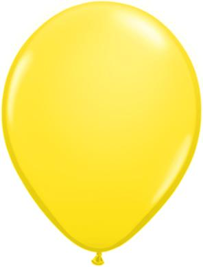 yellow Qualatex 11inch Balloons ,10 per package, empty