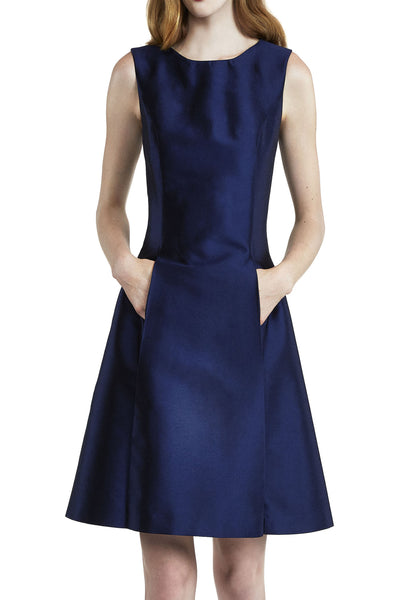 Pleat Front Dress with Pockets