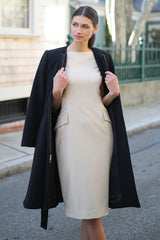 Fit & Flare Cashmere Coat
