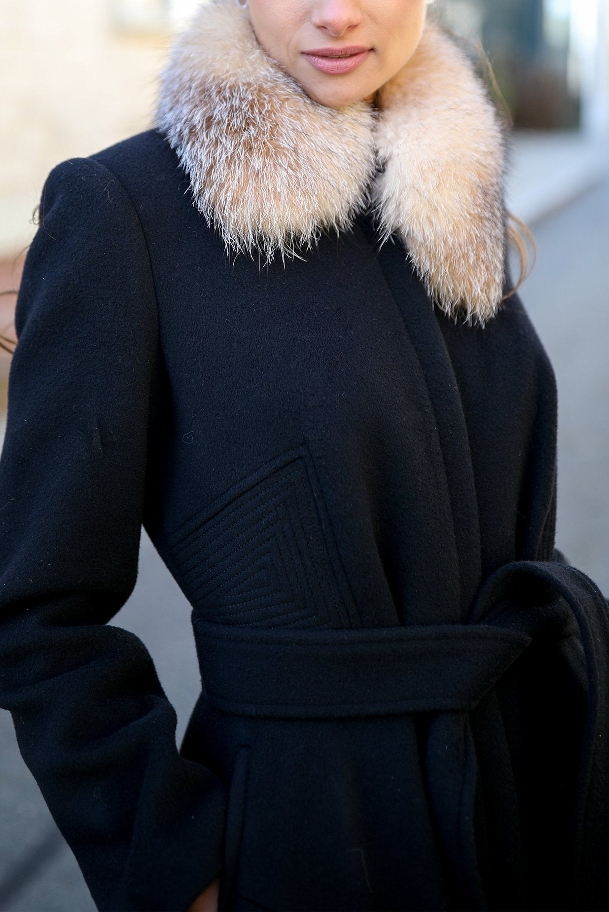 Chrystal Fox Fur Collar