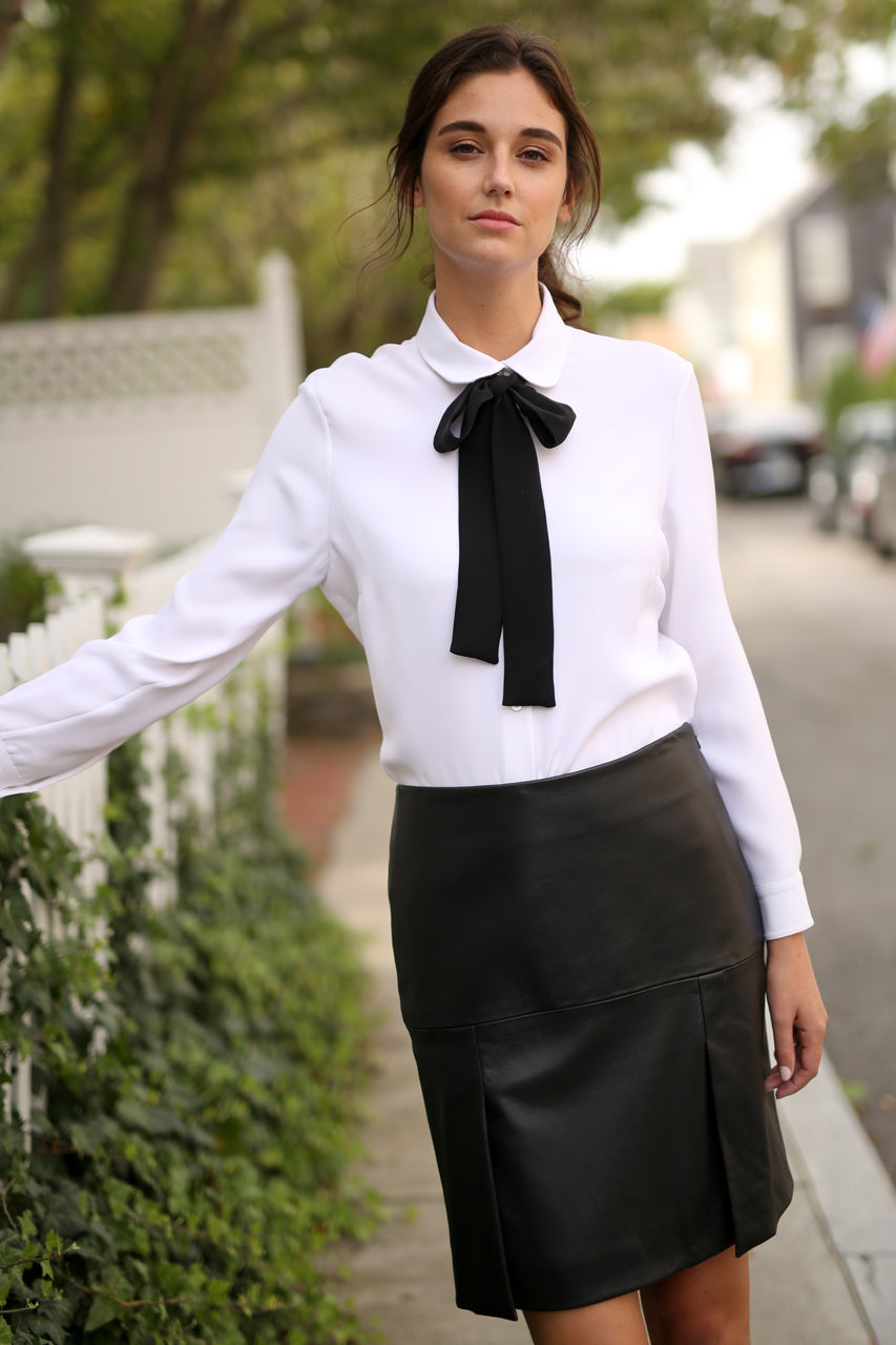 French Tie Blouse