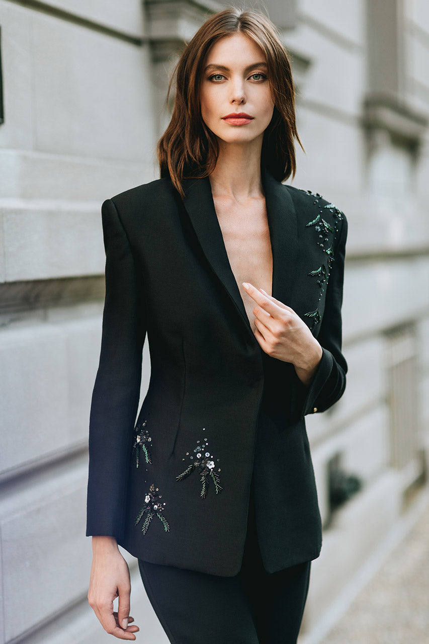 Embroidered Tuxedo Jacket