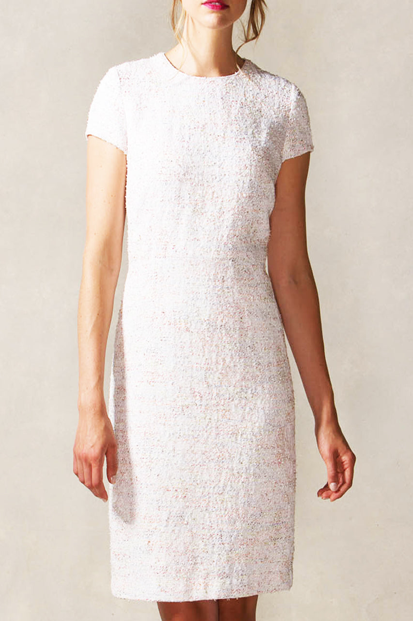 Tailored Sheath Dress with Cap Sleeve