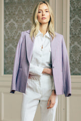 Double Pocket Collared Linen Blouse