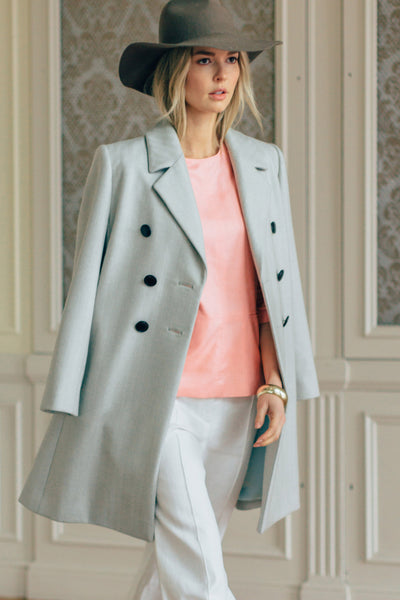 Double Breasted Peak Lapel Coat