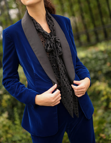 Shawl Collar Jacket in Velvet