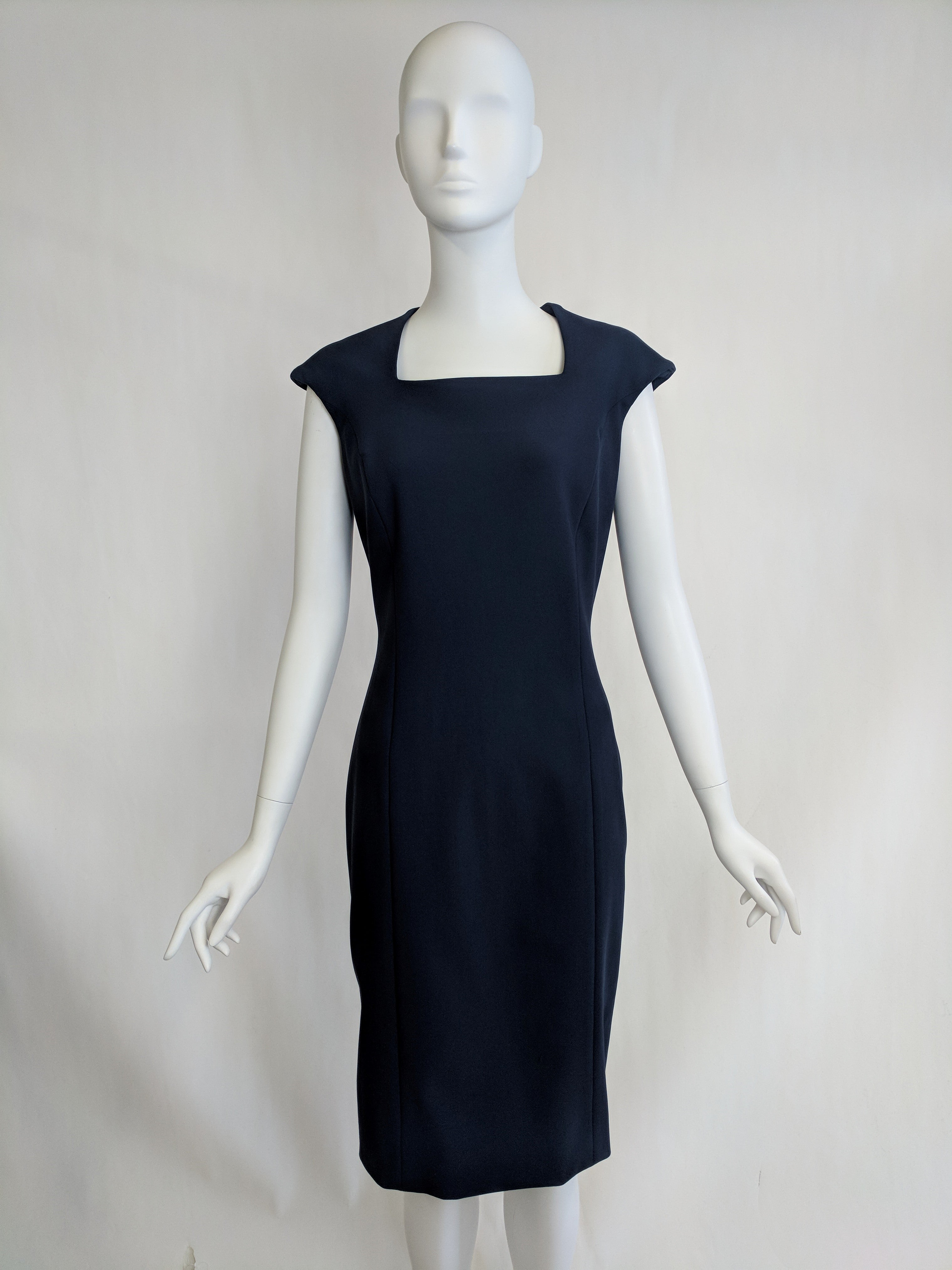 Square Neck Dress w/ Cap Sleeve