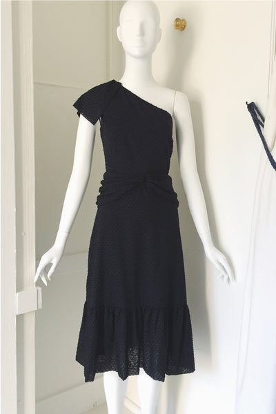 One Shoulder Dress with Flounce
